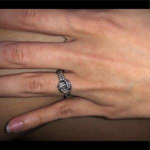Pandora Jewelry - Sparking love knot ring